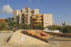Unikalna wodna fontanna w Piwnym Sheba, Izrael Zdjęcie Stock