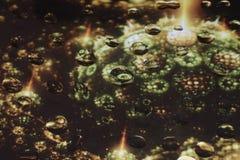 Unikalne wod krople na szkle Zdjęcie Stock