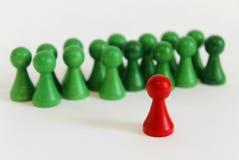 Unikalnej szef drużyny postaci czerwieni zieleni wiodący przedmiot Zdjęcie Stock