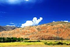 Unikalni landforms Gansu, Chiny Zdjęcia Stock