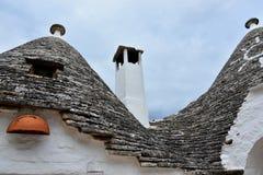 Unikalni Trulli domy Alberobello fotografia royalty free