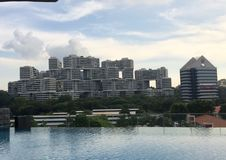 Unikalny budynek w Singapur zdjęcia stock