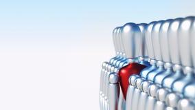 Unikalny 3D charakter stoi out Obraz Stock