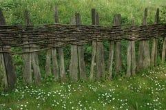 Unikalny drewniany ogrodzenie Zdjęcie Stock