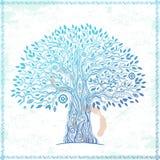 Unikalny etniczny drzewo życie ilustracja wektor