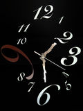 Unikalny I Abstrakcjonistyczny zegar Obraz Royalty Free