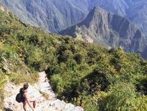 Unikalny i ciekawy widok antyczny inka miejsce Mach obraz royalty free