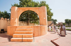 Unikalny indyjski obserwatorium Jantar Mantar Fotografia Royalty Free