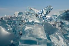 Unikalny lodowy jeziorny Baikal Zdjęcie Stock