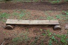 Unikalny miejsca siedzące w sosnowym lasu parku zdjęcie stock