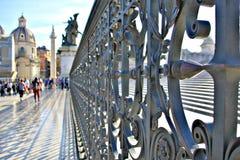 Unikalny ogrodzenie blisko kościół chrześcijańskiego w Rzym, Włochy Obrazy Royalty Free