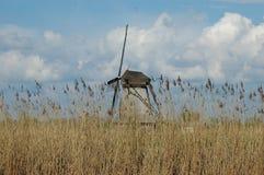 Unikalny panoramiczny widok na wiatraczkach w Kinderdijk, Holandia Fotografia Stock