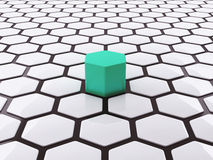 Unikalny pojęcie abstrakta 3D projekt Zdjęcia Stock