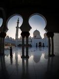 Unikalny projekt Sheikh Zayed meczet Fotografia Royalty Free