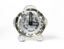 Unikalny srebro zegar Zdjęcia Royalty Free