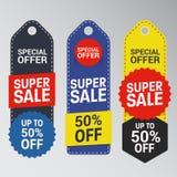 Unikalny Super sprzedaż sztandar Fotografia Stock