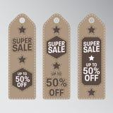 Unikalny Super sprzedaż sztandar Fotografia Royalty Free