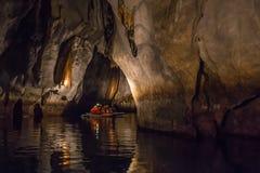 Unikalny wizerunek subterranean Puerto Princesa Zdjęcia Stock