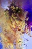 Unikt abstrakt begrepp som desing - målning med färgpulver under vatten Fotografering för Bildbyråer