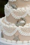 unikt bröllop för cake Royaltyfri Foto