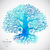 Unikt etniskt träd av liv royaltyfri illustrationer