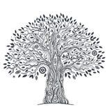 Unikt etniskt träd av liv Arkivbild
