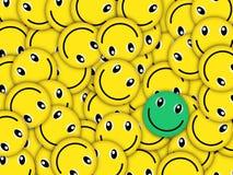 Unikt leende stock illustrationer