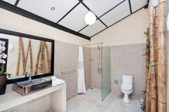 Unikt och klassiskt badrum royaltyfria bilder