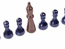 unikt schackstycke arkivfoton