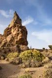 Unikt vagga bildande i den Teide nationalparken, Tenerife, Spanien Royaltyfri Bild