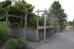 Unikt Wood staket Royaltyfria Foton