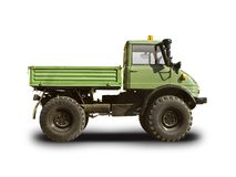 Unimog truck. Isolated on white Royalty Free Stock Photo
