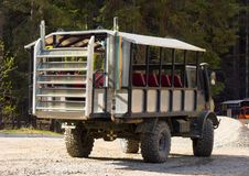 A unimog used for rugged outdoor excursions in alaska Royalty Free Stock Images