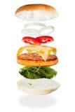 Unindo um Hamburger Imagens de Stock Royalty Free