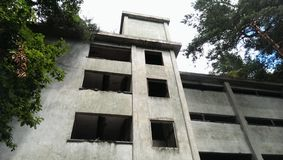 Uninhabited building in forest Stock Photos