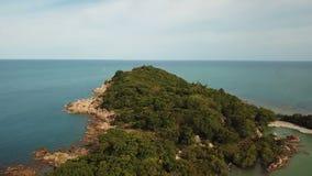Uninhabited Island. Aerial View. Shot with a DJI Mavic fps29,97 4k stock video