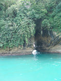 Uninhabited island Bocas de Toro. In the carribbean ocean royalty free stock photography