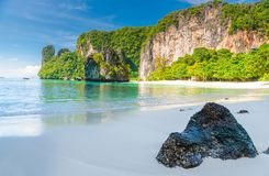 Uninhabited island of Hong in Thailand beautiful. View of the bay Stock Images