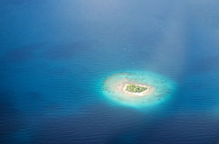Uninhabited island in the Pacific Stock Photos