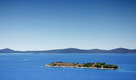 Uninhabited island in the sea, Croatia Dalmatia Royalty Free Stock Images