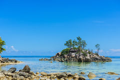 Uninhabited island. Seychelles. Royalty Free Stock Images