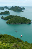 Uninhabited islands in the sea Stock Image
