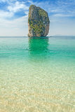 Uninhabited tropical island. Royalty Free Stock Image