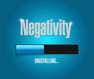 Uninstalling negativity illustration design. Over a blue background Royalty Free Stock Image