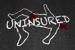 Uninsured Medical Insurance Accident Injury Chalk Outline stock illustration