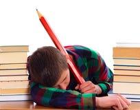 Uninteresting Education. Bored student because of uninteresting education Stock Image