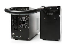 Uninterruptible power supply (ups) with reserve battery Stock Photo