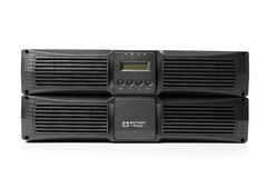 Uninterruptible power supply (ups) with reserve battery on white Royalty Free Stock Image
