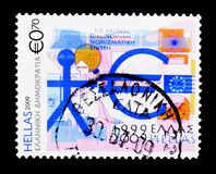 Union économique et monétaire de 10 ans de l'Europe, anniversaires Photos libres de droits