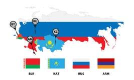Union économique eurasienne 2 illustration libre de droits